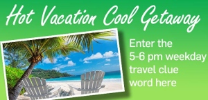 Hot Vacation Cool Getaway 5-6pm Hour Banner