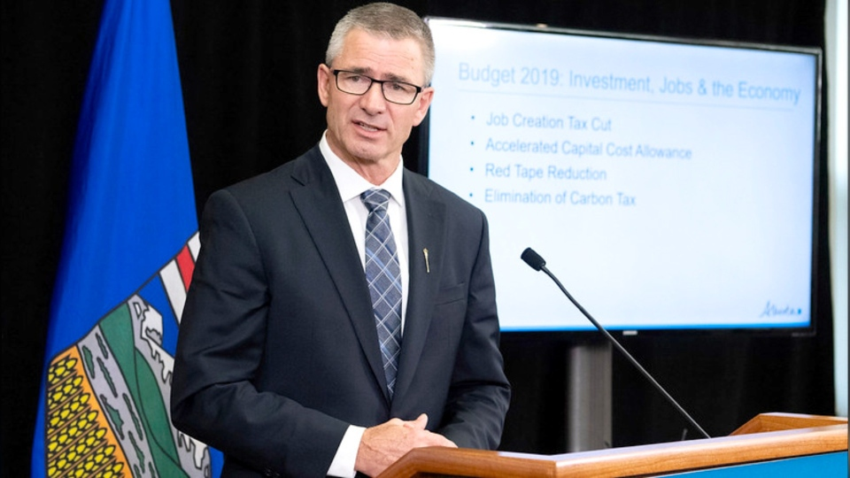Finance Minister Travis Toews