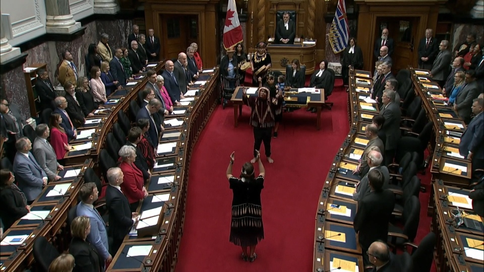 BC Legislature First Nations ceremony