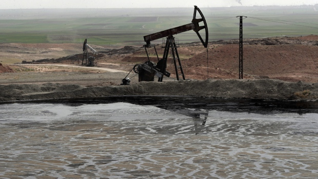 An oil field in Rmeilan, Hassakeh province, Syria