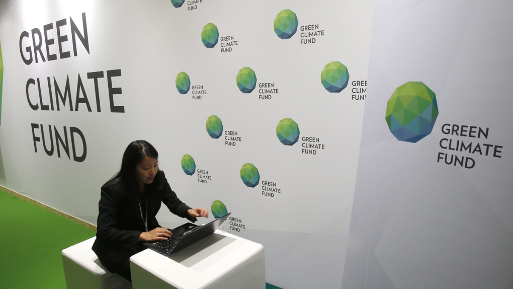 Green Climate Fund stand at COP21 in 2015