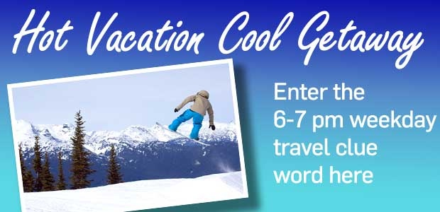 Hot Vacation Cool Getaway 6-7pm Hour Banner