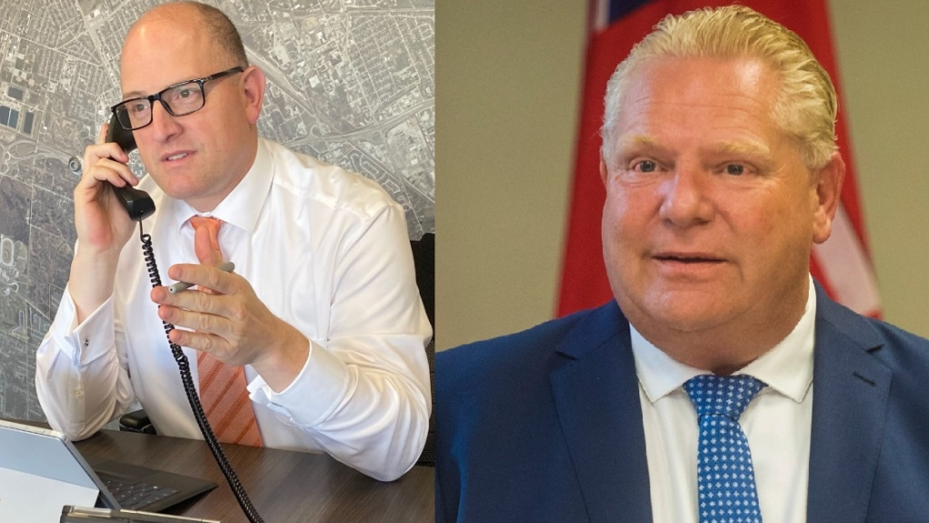 Drew Dilkens and Doug Ford