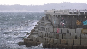 The Ogden Point breakwater in Victoria is pictured:  (File)