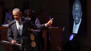 Barack Obama speaking