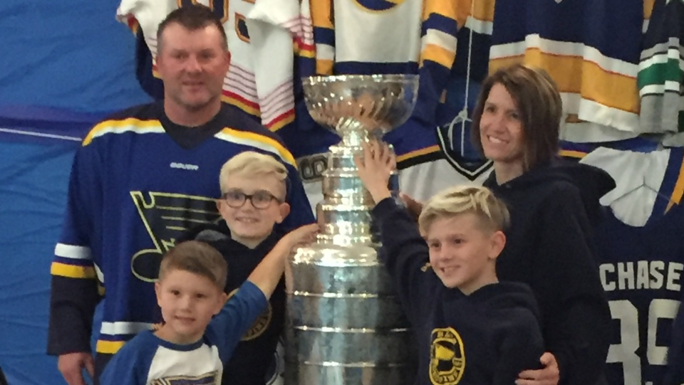 Kelly Chase brought the Stanley Cup to Porcupine Plain recently. (Lisa Risom/CTV Prince Albert)