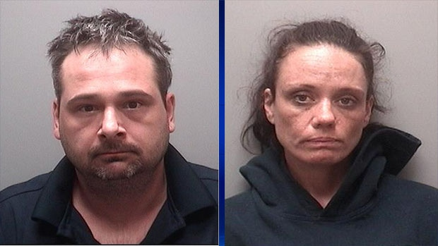 John LAVECHIA, 38, of Tay Township and Michelle TAVENOR, 38, of Midland are wanted in connection with a serious assault in Midland on Sat., Oct. 19, 2019 (OPP Handout)