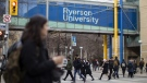 A general view of the Ryerson University campus in Toronto, is seen on Thursday, January 17, 2019. Ontario college and university students are heading back to school with lower tuition fees, but accompanying cuts to government assistance mean many will have both less help paying for school and more debt. THE CANADIAN PRESS/Chris Young