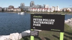 A waterfront park in downtown Victoria has been renamed in honour of former mayor Peter Pollen. (CTV)