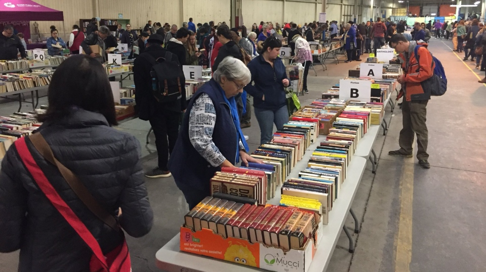 The 13th Annual Giant Book Sale took place in Guelph. (Krista Sharpe / CTV Kitchener)