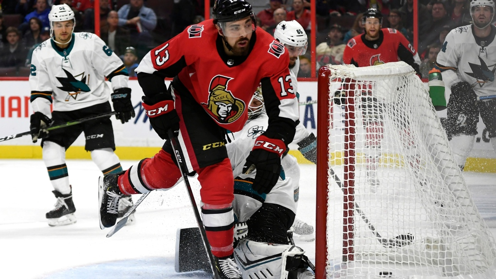 Ottawa Senators left wing Nick Paul