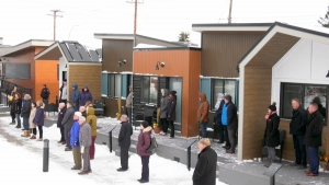 Homes For Heroes, a complex of 15 tiny homes, is now complete with most residents set to move in on the weekend.