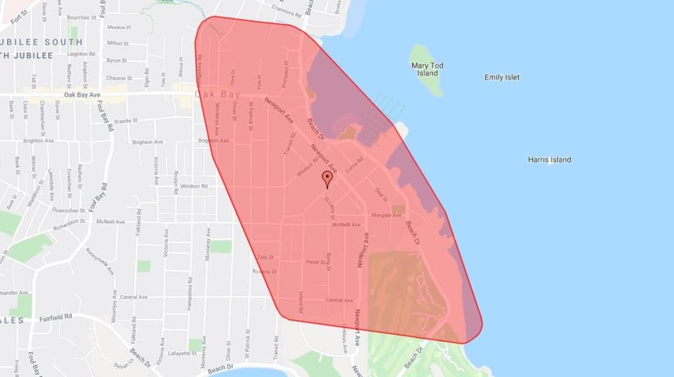 oak bay power outage