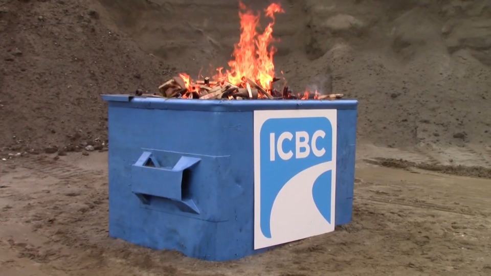 ICBC dumpster fire