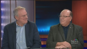 Hockey Hall of Famers Scotty Bowman and Ken Dryden talk about their new book.