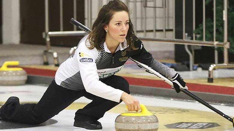 Curler Aly Jenkins is seen in this undated handout photo. There's been an outpouring of love and support for a promising Saskatchewan curler who died this week from complications that arose during the birth of her third child. Aly Jenkins, a member of Sherry Anderson's rink, died Sunday during childbirth at the age of 30. Doctors determined amniotic fluid had entered her blood stream, setting off a rare amniotic fluid embolism. Her heart eventually gave out.Team Anderson / THE CANADIAN PRESS