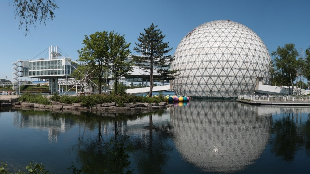 Ontario Place is seen in this undated photograph provided by the World Monument Fund,