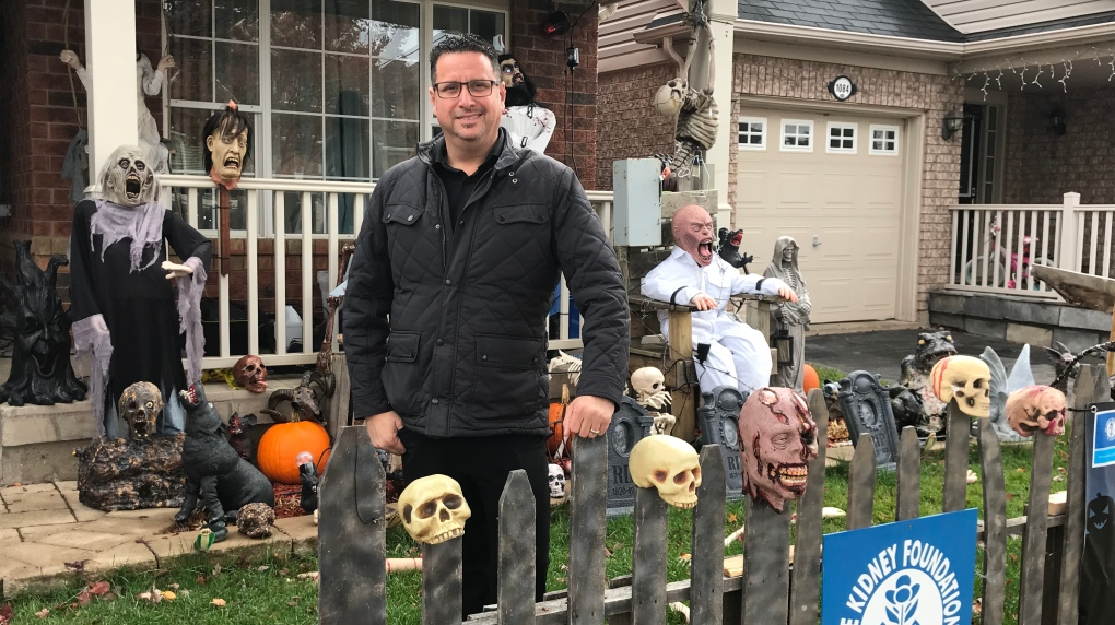 Town of Milton says creepy Halloween display can stay, despite complaint from resident