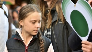 Thunberg's activism has inspired environmental campaigners around the world. (AFP)