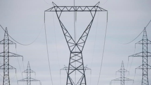 Manitoba Hydro power lines are photographed just outside Winnipeg, Monday, May 1, 2018. THE CANADIAN PRESS/John Woods