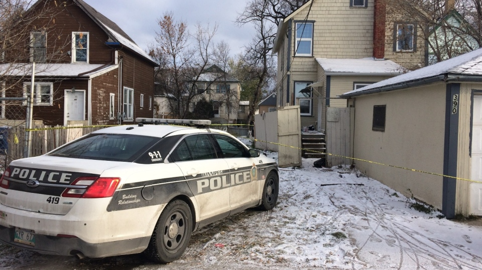 Winnipeg Police Service respond to a serious assault in the 300 block of Pritchard Avenue on Oct. 30, 2019. (Source: Jamie Dowsett/ CTV News Winnipeg)