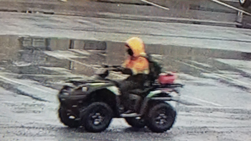 Photos of alleged ATV thief