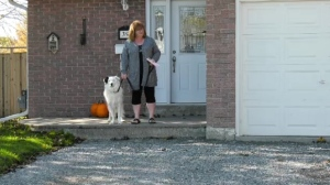 A homeowner in Bowmanville says that she has been waiting five months for a paver to return and finish her driveway.