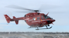 One of STARS Air Ambulance's eight BK117 helicopters touched down in Lethbridge for the last time on Wednesday.