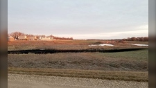 The oil spill leaked 383.000 gallons near the city of Edinburg, N.D. (Walsh County Emergency Management)