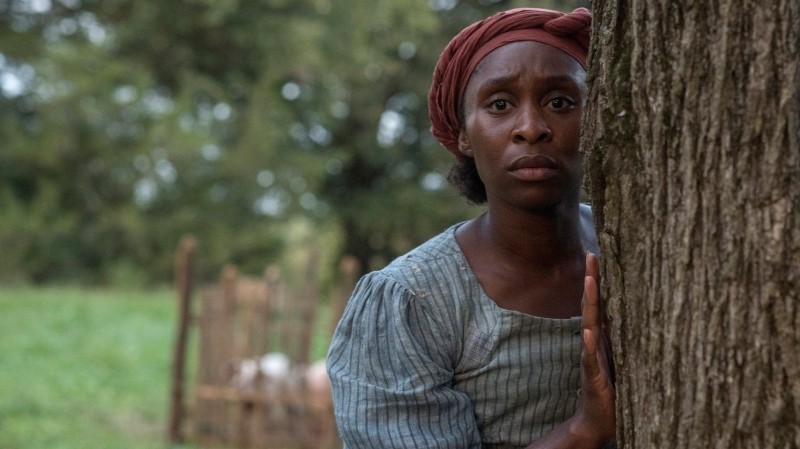 "This image released by Focus Features shows Cynthia Erivo as Harriet Tubman in a scene from ""Harriet."" (Glen Wilson/Focus Features via AP)"