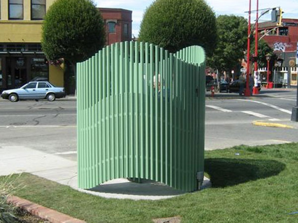 The City of Victoria unveiled this new public urinal on Friday. It was designed by Vancouver architect Matthew Soules. Sept. 5, 2009.