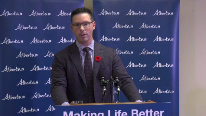 Alberta Justice Minister Doug Schweitzer