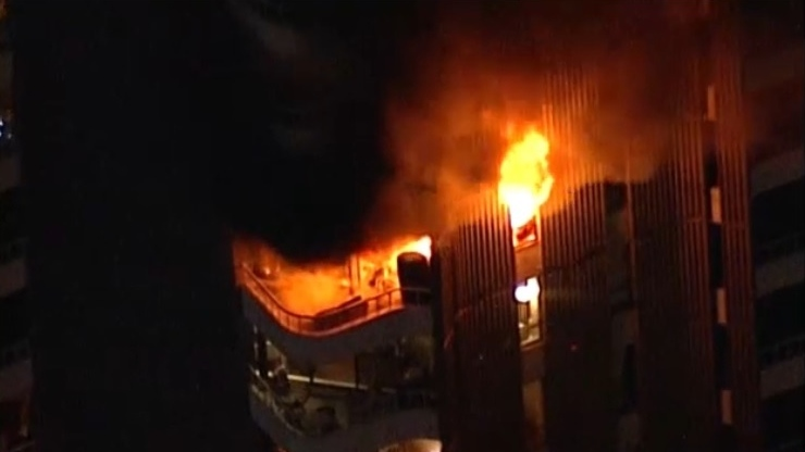 Fire breaks out at apartment in Vancouver's West End