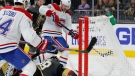 Montreal Canadiens left wing Tomas Tatar (90) scores against Vegas Golden Knights goaltender Marc-Andre Fleury (29) during the third period of an NHL hockey game Thursday, Oct. 31, 2019, in Las Vegas. (AP Photo/John Locher)