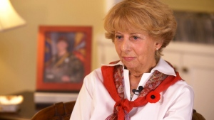 Reine Samson Dawe, whose youngest son died in Afghanistan while serving in the Canadian Armed Forces, is the 2019 Silver Cross Mother -- an annual distinction conferred by the Royal Canadian Legion. (CTV News)