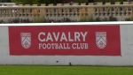 A Cavalry FC banner at ATCO park at Spruce Meadows (file)