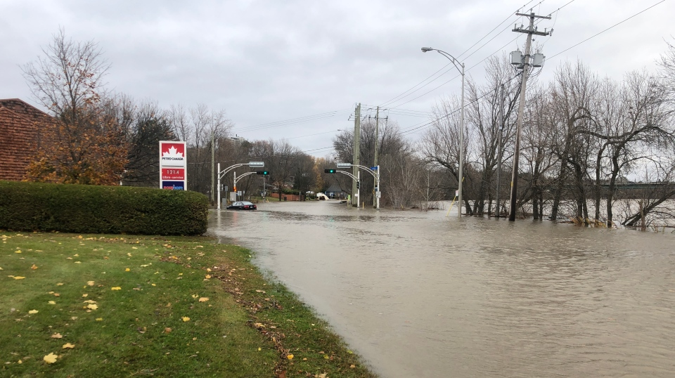 There's severe flooding in Sherbrooke (photo: Emily Campbell / CTV Montreal)