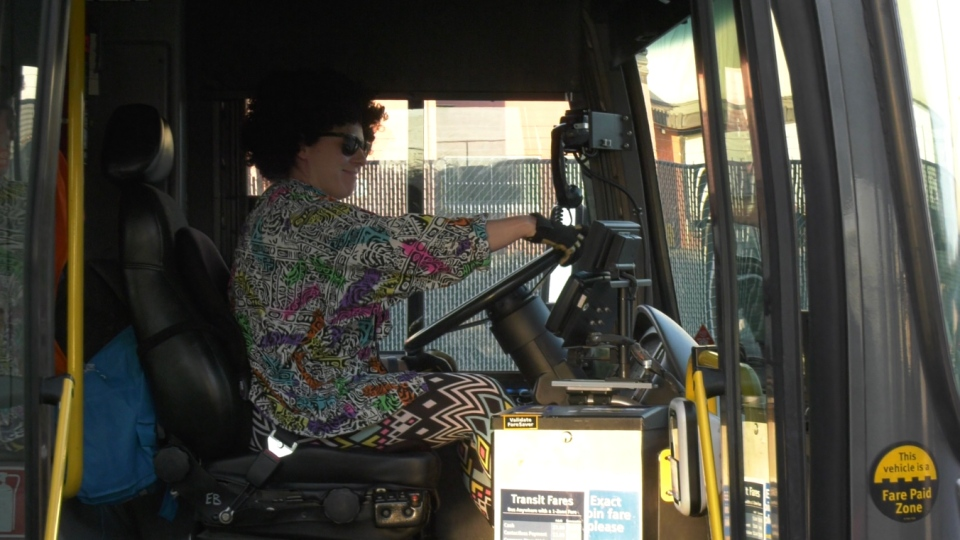 A bus driver seen outside Braid Station, not in uniform. The first phase of job action from bus and SeaBus operators includes a ban on uniforms and overtime for maintenance workers.