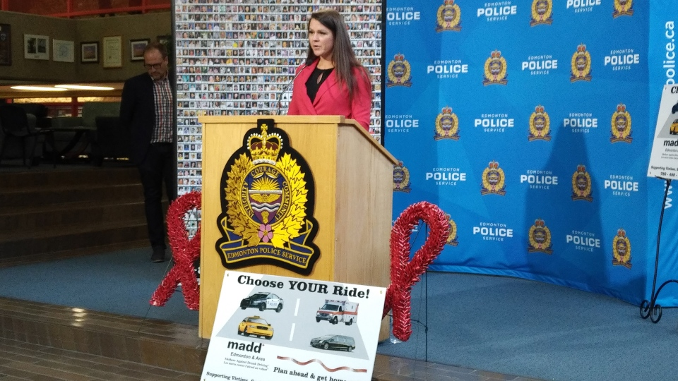 The Edmonton chapter of Madd Canada launched their annual Project Red Ribbon campaign on Friday. (Amanda Anderson/CTV News Edmonton)