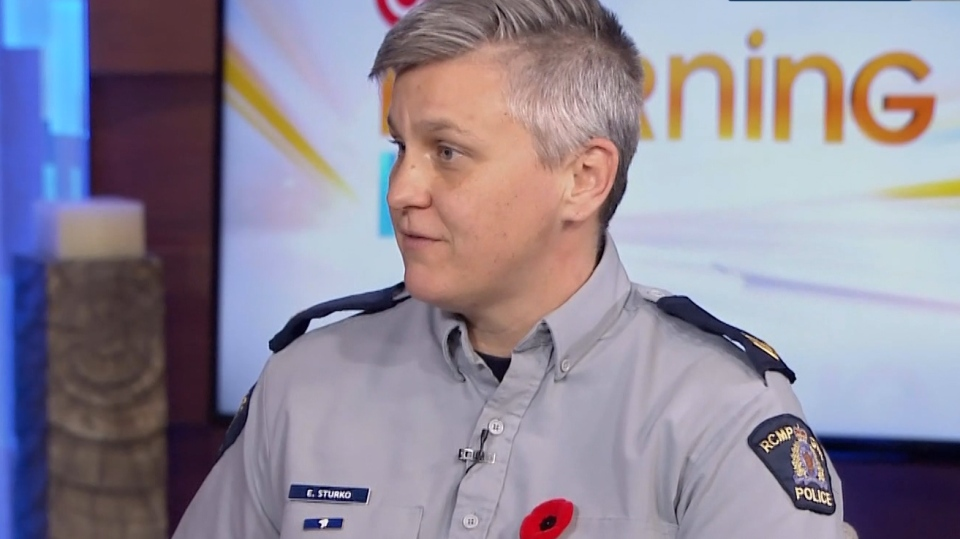 Surrey's Cpl. Elenore Sturko on CTV Morning Live on Nov. 1, 2019.