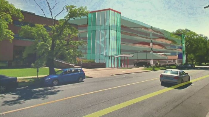 The new parkade will have up to 900 parking spaces and will sit on the current parking lot of the Museum of Natural History.