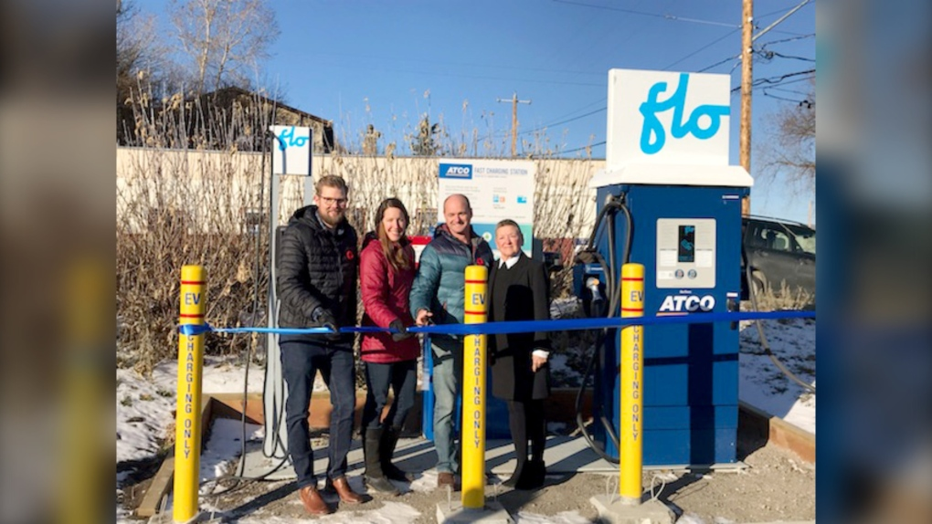 Electric vehicle charging stations Pincher Creek