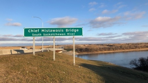 The Chief Mistawasis Bridge is pictured in this file photo.