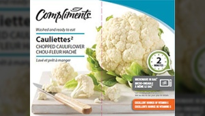 Compliments brand Cauliettes chopped cauliflower are seen in this file photo. (Canadian Food Inspection Agency)