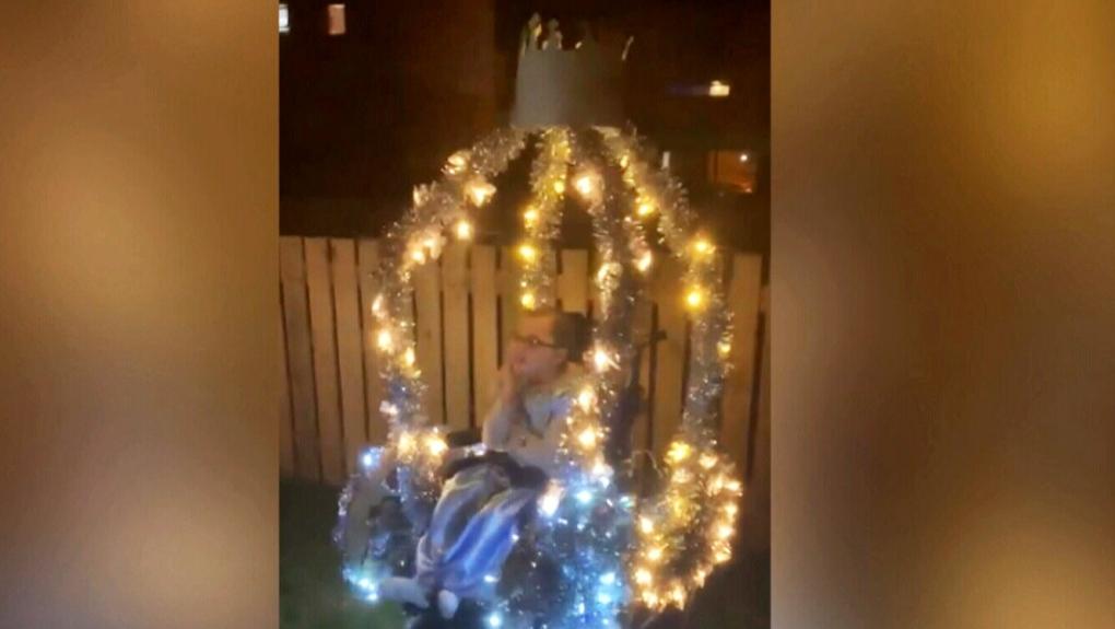 Doting dad transforms daughter's wheelchair into magical 'Cinderella' carriage