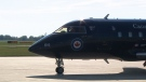 One of the federal government's Challenger jets is seen in this file image.
