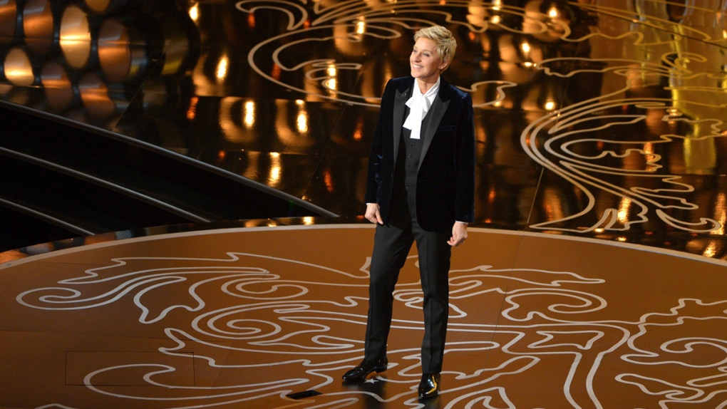 Ellen DeGeneres hosts the Oscars in 2014