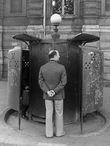 The architect behind Victoria's new public urinal drew inspiration from a Parisian 19th century pissoir. Sept. 5, 2009.