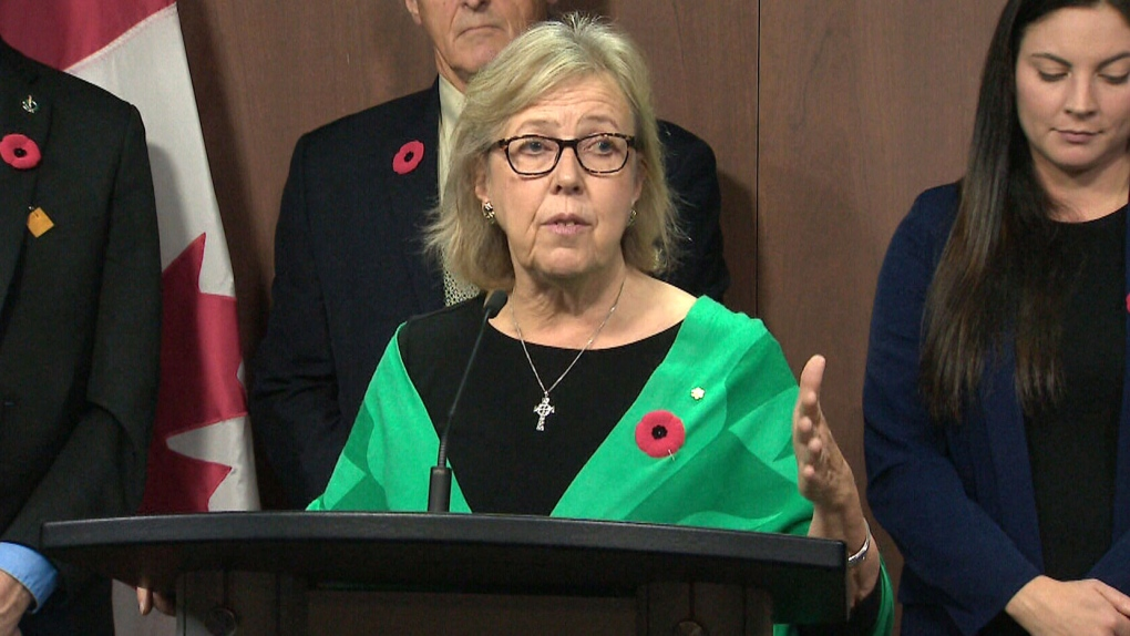 Trudeau finishes meetings with opposition leaders with Elizabeth May