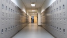 Lockers in a school hallway. (Shutterstock)
